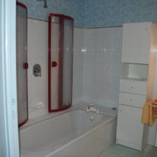 Chambre L'Azur, salle de bain - Le Belvédère, Ascou